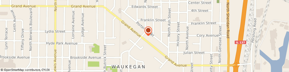 Route/map/directions to 4-Way Mini Mart, 60085 Waukegan, 840 GRAND AVENUE