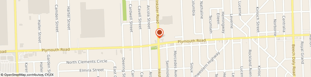 Route/map/directions to Ravnor Overhead Door Corporation, 48150 Livonia, 11615 INKSTER ROAD