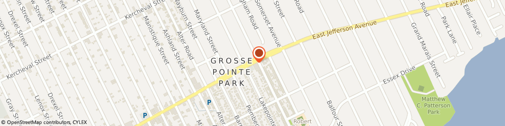 Route/map/directions to Post Office - Fox Creek Station, 48230 Grosse Pointe, 12711 EAST JEFFERSON AVENUE