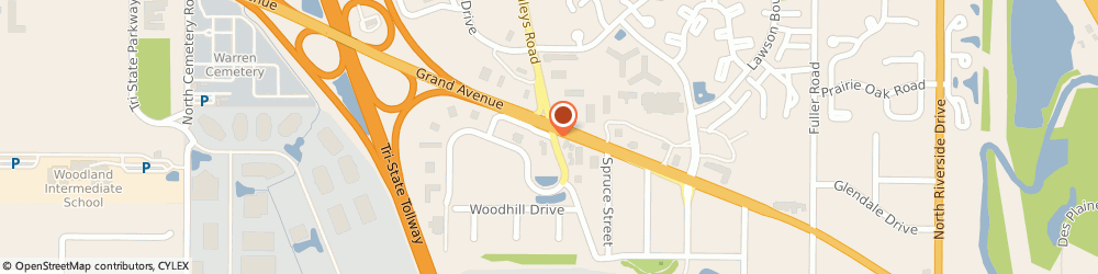 Route/map/directions to Prairie Orthodontics Pc, 60031 Gurnee, 1475 N Dilleys Rd