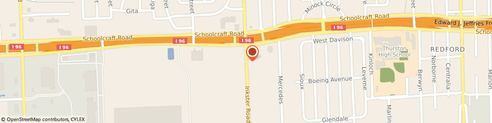 Route/map/directions to Carpet Clinic, 48150 Livonia, 13317 Inkster Rd