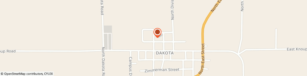 Route/map/directions to Dakota Community Presbyterian, 61018 Dakota, 210 N Church St