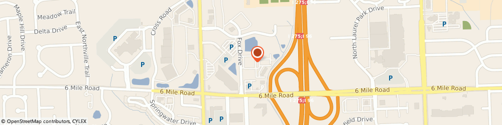 Route/map/directions to Residence Inn by Marriott Detroit Livonia, 48152 Livonia, 17250 Fox Drive
