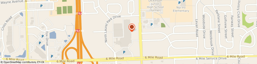 Route/map/directions to Justice, 48152 Livonia, 37540 W. Six Mile Road