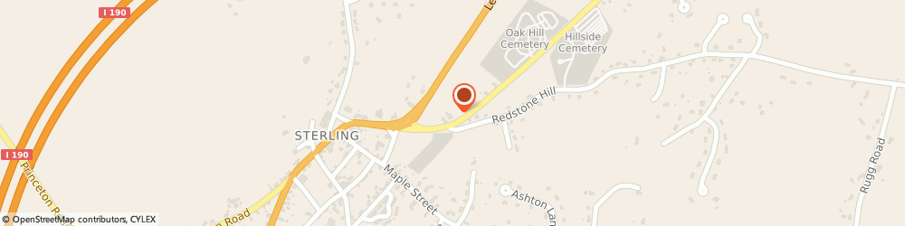 Route/map/directions to Post Office - Sterling, 01564 Sterling, 6 CLINTON ROAD