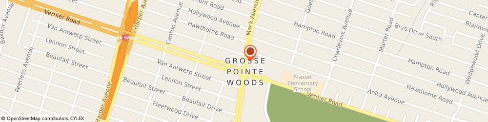 Route/map/directions to Cole J W Jewelry, 48236 Grosse Pointe Woods, 19834 MACK AVENUE