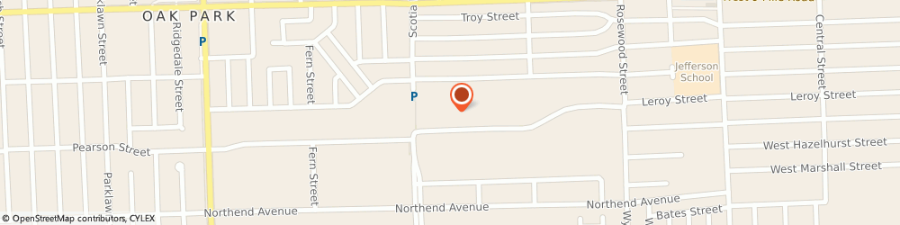 Route/map/directions to American Saucery, 48237 Oak Park, 10750 Capital St