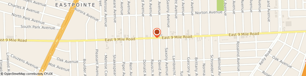 Route/map/directions to Ryder Truck Rental-One-Way Inc - Neighborhood Dealers, 48021 Eastpointe, 17210 EAST 9 MILE ROAD