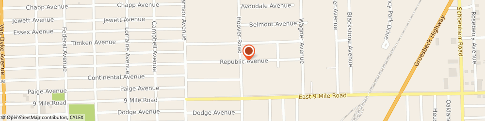 Route/map/directions to Mr Lawn Care and Snow Removal, 44483 Warren, 170 Republic Ave