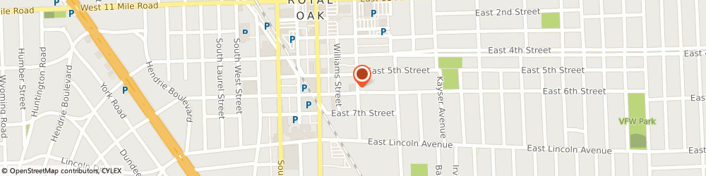 Route/map/directions to Royal Oak Fire Prevention, 48067 Royal Oak, 215 E 6TH ST