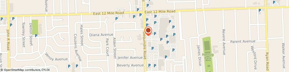 Route/map/directions to M & P Diamond Jewelers, 48092 Warren, 28582 DEQUINDRE RD