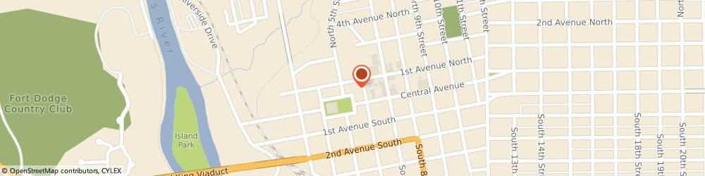 Route/map/directions to Citibank ATM, 50501 Fort Dodge, 512 Central Avenue