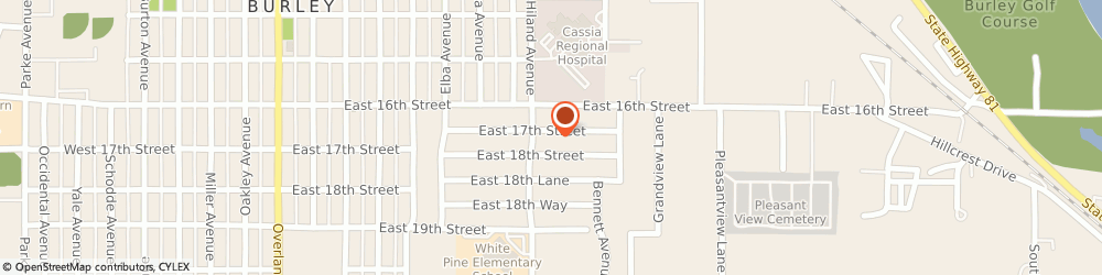 Route/map/directions to Brent Petterson Construction, 83318 Burley, 925 E 17Th St
