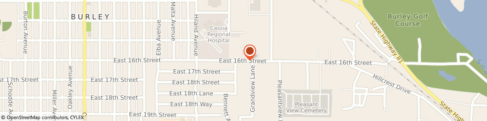 Route/map/directions to Hem-Stitching Etc, 83318 Burley, 1239 E 16th St