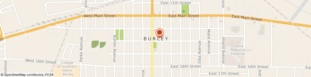 Route/map/directions to Burley Church Of Christ, 83318 Burley, P.O. Box 832
