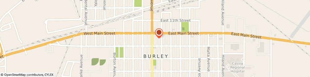 Route/map/directions to Safeco Insurance Agent, 83318-1834 Burley, 1225 Overland Ave