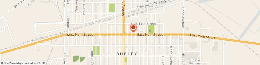 Route/map/directions to Wells Fargo Bank, 83318 Burley, 130 E Main St