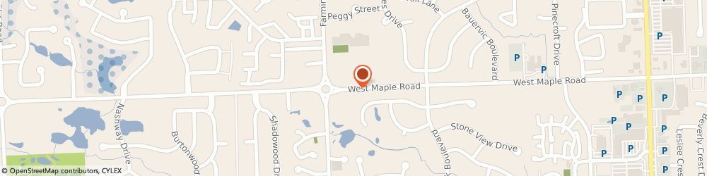 Route/map/directions to Little Caesars Pizza, 48322 West Bloomfield, 6078 West Maple