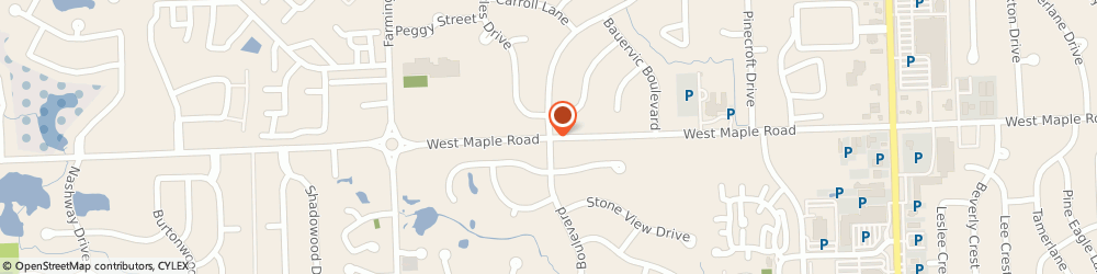 Route/map/directions to C v S/ Pharmacy, 48322 West Bloomfield, 6070 W MAPLE RD