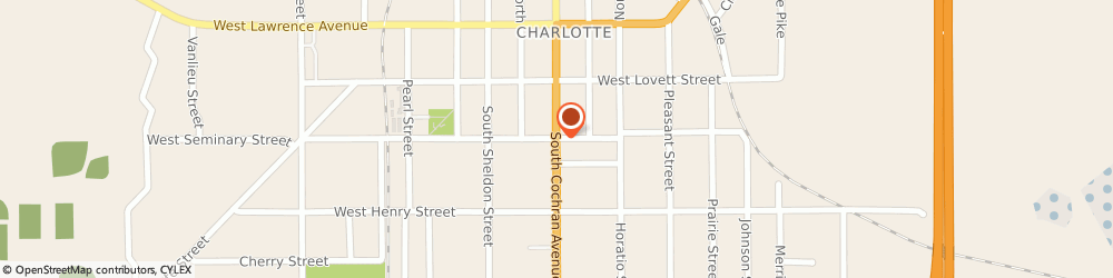 Route/map/directions to Bank of America, 48813 Charlotte, 301 S COCHRAN