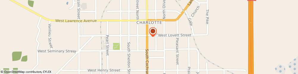 Route/map/directions to Sparrow Medical Supply, 48813 Charlotte, 201 S. Cochran Aveneu
