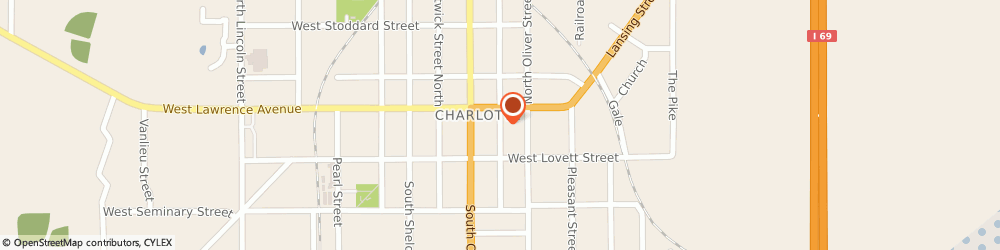 Route/map/directions to Napa Auto Parts - Mike's Automotive Of Charlotte, 48813 Charlotte, 135 S WASHINGTON