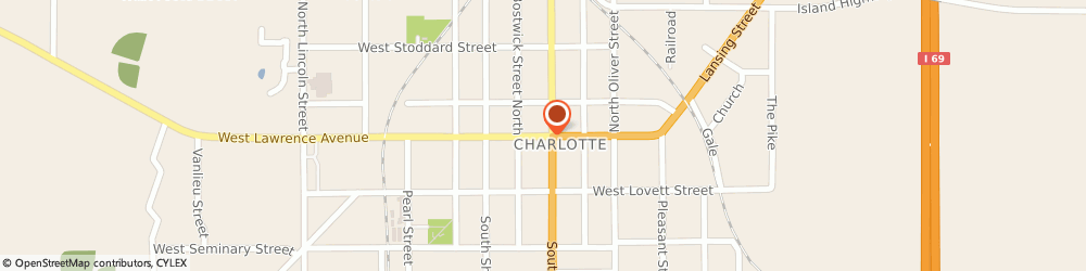 Route/map/directions to Parts Plus Dealer, 48813 Charlotte, 125 W. Lawrence Ave.