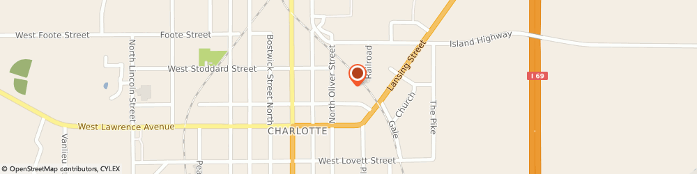 Route/map/directions to Sparrow Eaton Hospital, 48813 Charlotte, 321 E. Harris St