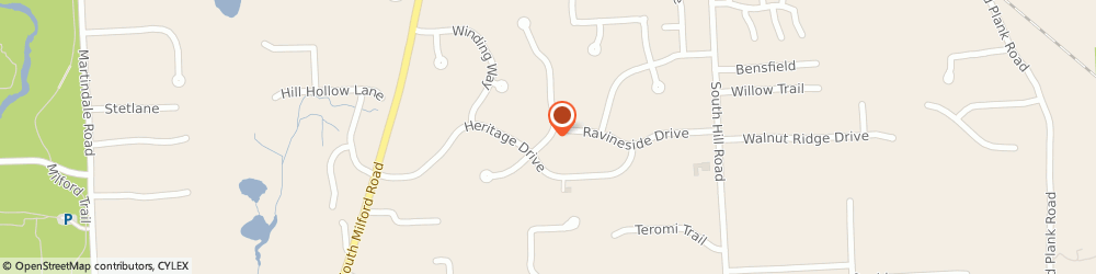 Route/map/directions to St Onge Design, 48381 Milford, 1105 EAGLE NEST DR