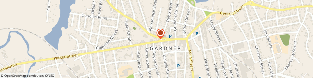 Route/map/directions to Dunkin', 01440 Gardner, 4 Oak St