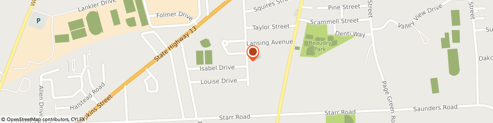 Route/map/directions to Memorial Baptist Church, 13045 Cortland, 50 DELAWARE AVE