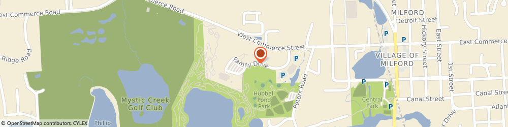 Route/map/directions to Milford Public Library, 48381 Milford, 330 Family Dr