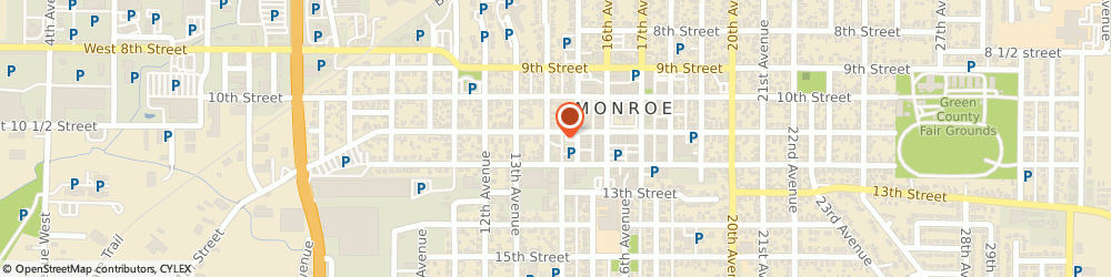 Route/map/directions to Monroe Glass Co Inc, 53566 Monroe, 1408 11th St,