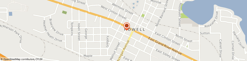 Route/map/directions to All Saints Wedding Chapel, 48843 Howell, 120 S Walnut St