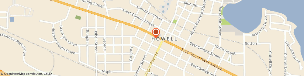 Route/map/directions to Hellers Flowers, 48843 Howell, 203 W Grand River Ave