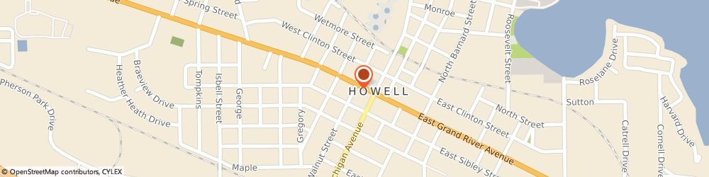 Route/map/directions to All Saints Chapel Florist Btq, 48843 Howell, 120 S Walnut St