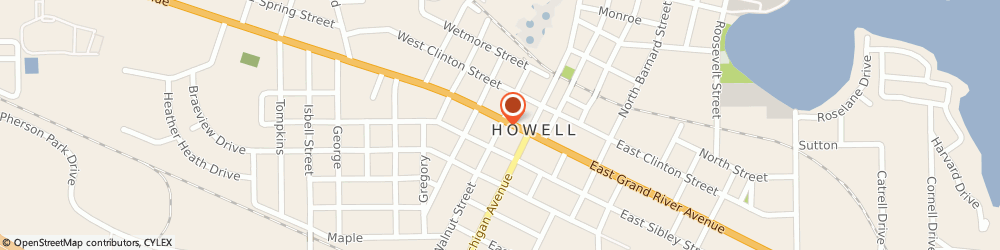 Route/map/directions to Wedding Decorators & Party Consultants, 48843 Howell, 120 SOUTH WALNUT STREET