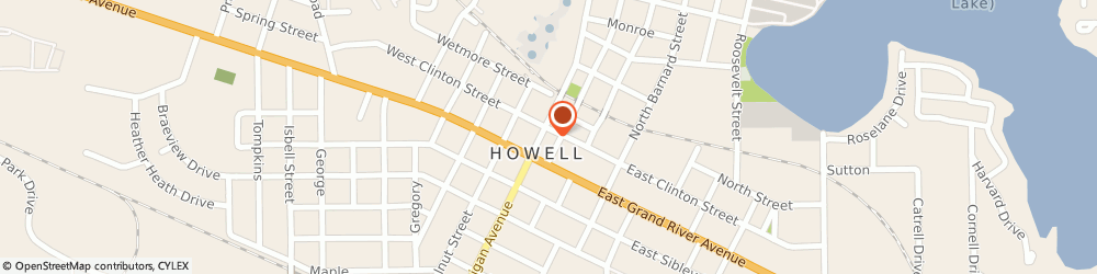 Route/map/directions to Carriage House Designs, 48843 Howell, 119 N Michigan Ave