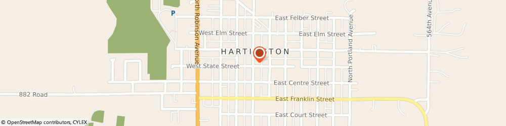 Route/map/directions to American Express Financial Advisors Incorporated, 68739 Hartington, 216 NORTH BROADWAY AVENUE