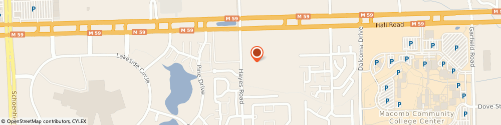 Route/map/directions to American Express Financial Advisors Incorporated, 48038 Clinton Township, 44720 Hayes Rd.
