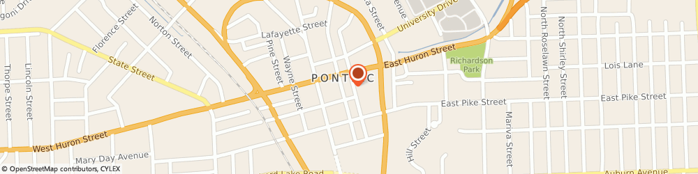 Route/map/directions to PNC BANK, 48342 Pontiac, 50 N Perry St