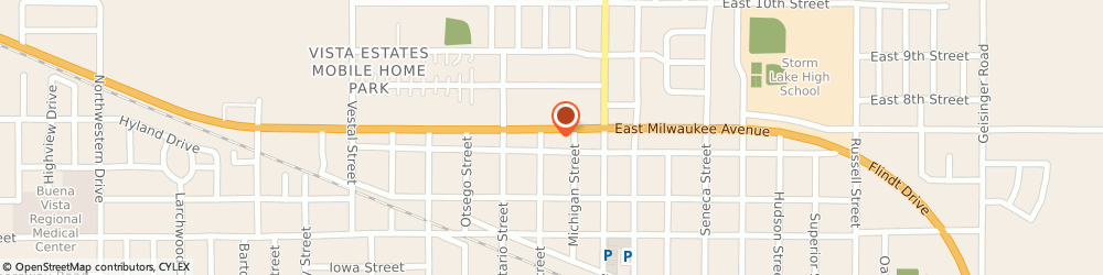 Route/map/directions to Casey's General Store, 50588 Storm Lake, 222 W MILWAUKEE AVE