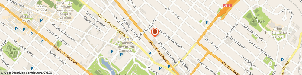 Route/map/directions to H&R Block, 12206 Albany, 165 Central Ave