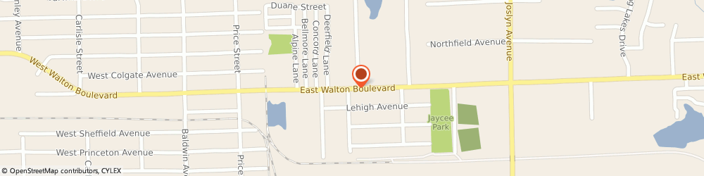 Route/map/directions to Pontiac Ace Hardware, 48340 Pontiac, 290 EAST WALTON BOULEVARD