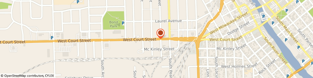 Route/map/directions to American Family Insurance, 53545 Janesville, 1420 W COURT ST # 3