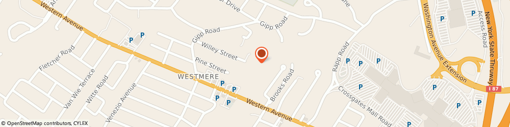 Route/map/directions to Bank of America, 12203 Albany, 1791 WESTERN AVE