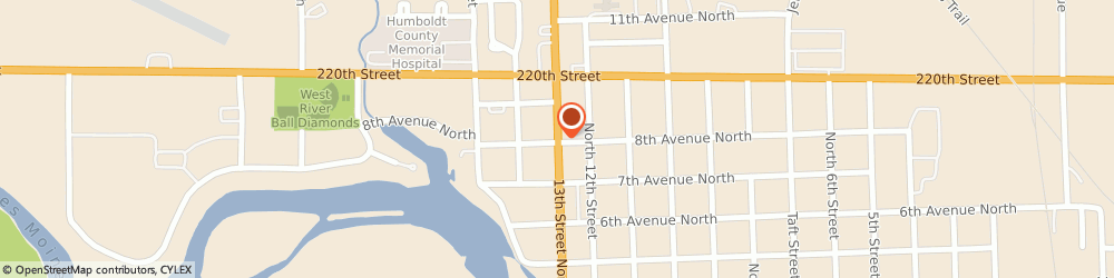 Route/map/directions to Shell, 50548 Humboldt, 804 13TH ST N