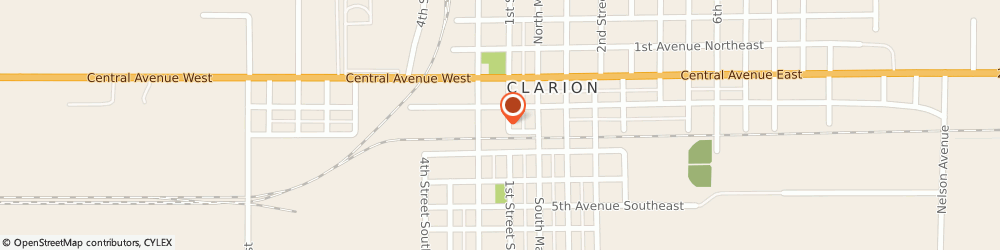 Route/map/directions to North Iowa Real Estate, LLC, 50525 Clarion, 218 1st Street SW, Suite B