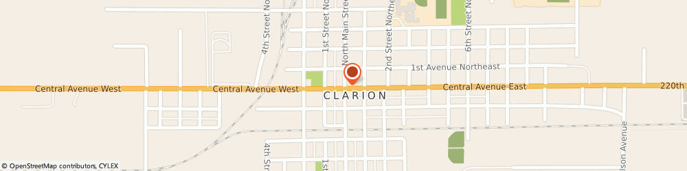 Route/map/directions to Hearts and Flowers, 50525 Clarion, 110 NORTH MAIN STREET