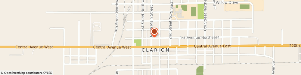 Route/map/directions to Clarion True Value, 50525 Clarion, 204 NORTH MAIN STREET